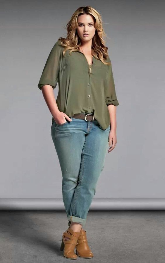 Best Plus Size Olive Green Top