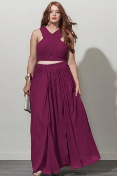 Plus Size Burgundy Bridesmaid Dresses