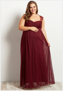 Burgundy Bridesmaid Dresses Plus Size