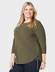 Cheap Plus Size Olive Green Tops