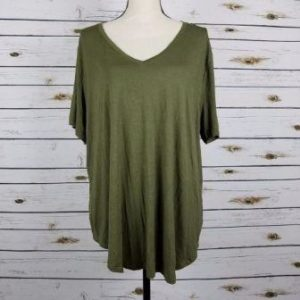 Extra Large XL Olive Green Tops
