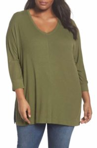 Oversized Olive Green Tops
