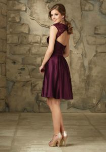 Plus Size Burgundy Bridesmaid Satin Dress