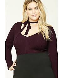 Plus Size Choker Top