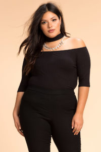 Plus Size Choker Tops