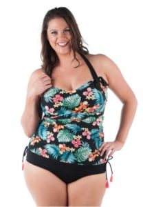 Plus Size Maternity Swimsuit with Underwire