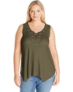 Plus Size Olive Green Tank Tops