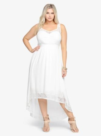 Most Gorgeous Plus Size White High Low Dresses