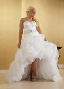 Plus Size White High Low Wedding Dresses