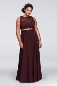 Plus Sized Burgundy Bridesmaid Dresses