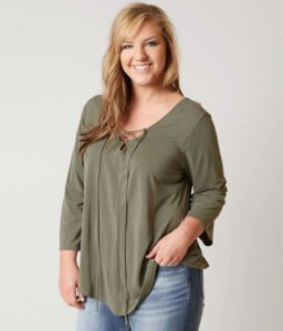 Women's Plus Size Olive Green Tops