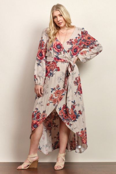 Beautiful Plus Size Long Floral Maxi Dresses