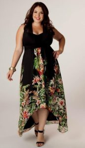 Black Floral Maxi Dress Plus Size