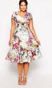 Floral Dresses with Sleeves Plus Size