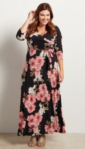 Floral Maxi Dress Plus Size