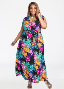 Floral Maxi Plus Size Dress