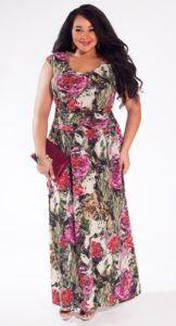 Floral Maxi Plus Size Dress for Women