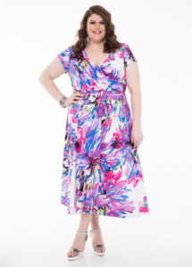 Floral Print Maxi Dress Plus Size