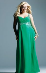 Green Bridesmaid Dresses for Plus Size