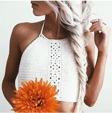 Plus Size Crochet Halter Tops