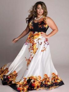 Plus Size Floral Maxi Dress for Wedding