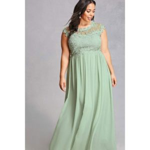 Plus Size Green Bridesmaid Dress Gown