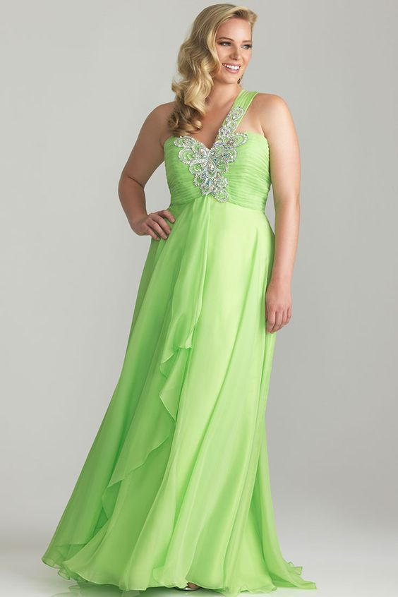Most Stunning Plus Size Green Bridesmaid Dresses