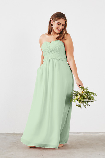 Plus Size Sage Green Bridesmaid Dress
