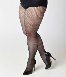 Thigh High Fishnet Stockings in Plus Size
