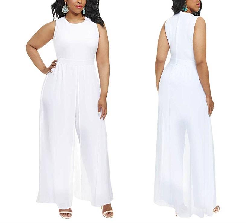 White Formal Jumpsuits for Parties