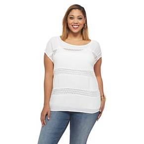 Women's Plus Size Crochet Tops