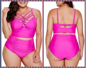 High Waisted Plus Size Swimwear