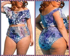 High Waisted Swimwear Plus Size