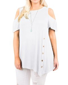 Plus SIze White Dress Blouses