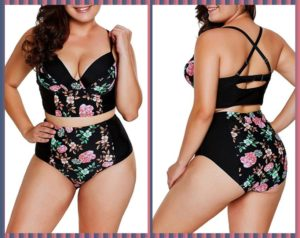 Plus Size High Waisted Swimwear