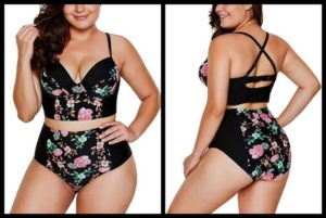 Plus Size Two Piece Swimwear with Underwire