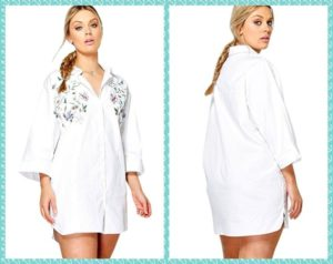 Plus Size White Dress Shirt