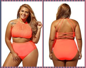 Vintage High Waisted Swimwear Plus Size