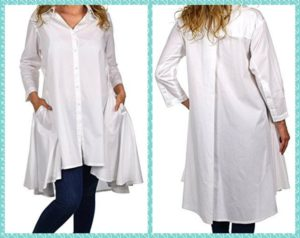 White Shirt Dress Plus Size