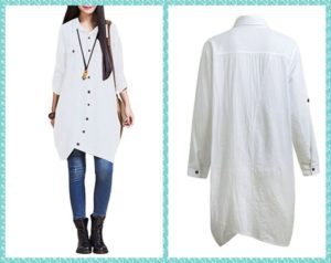 Women's Plus Size white dress shirt 1