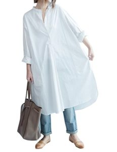 long white shirt dress plus size