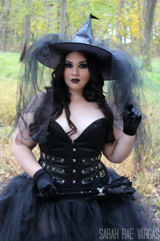 Women's Plus Size Emerald Witch Costume |Plus Size Halloween Costumes Witch