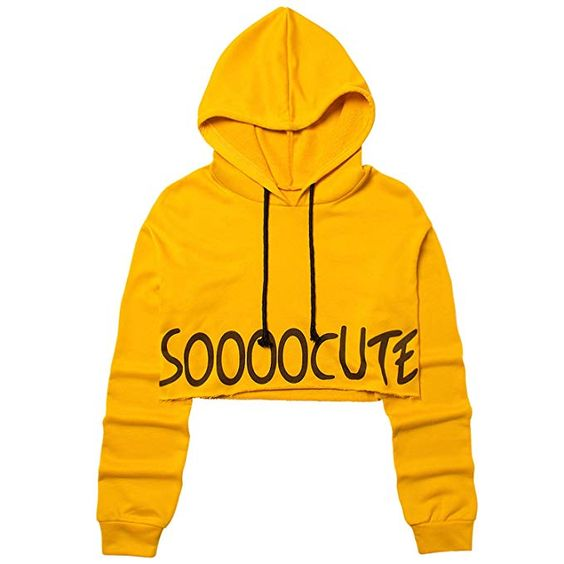 Cropped Hoodie Plus Size Girls