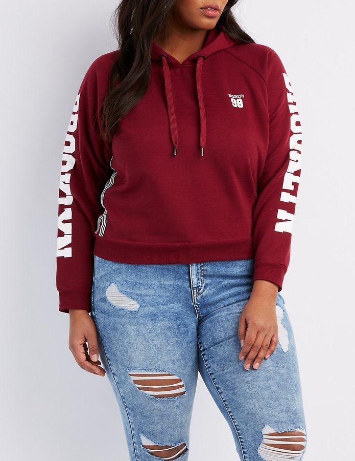 Cropped Hoodie Plus Sizes
