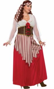 Female Pirate Costume in Plus Size
