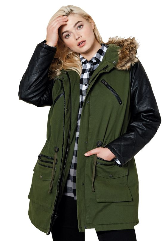 Hood Jacket In Plus Size