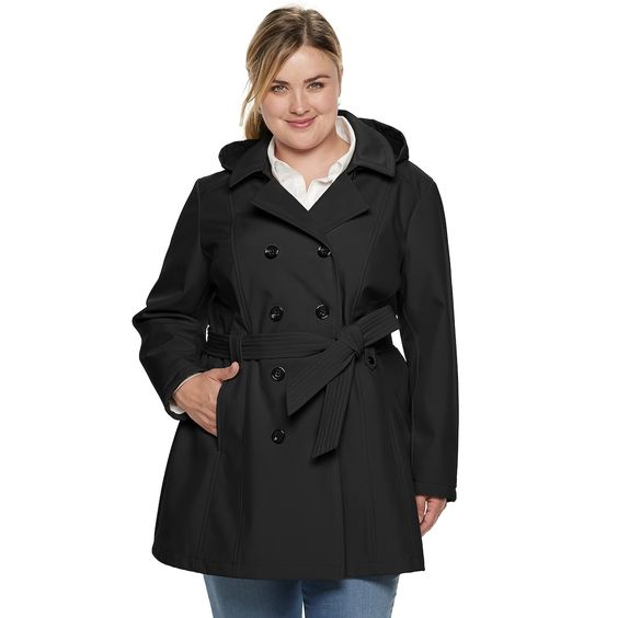 Hooded Jacket In Plus Size
