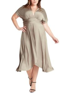 Infinity Tie Wrap Convertible Dress Plus Size