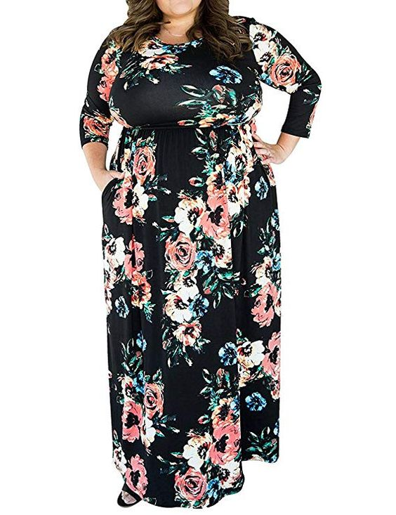 Maxi Dress Plus Size with Pockets
