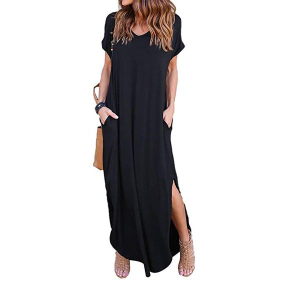 Maxi Dress with Pockets of Plus Size